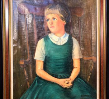 BILL WARDEN (1927-1991) - ORIGINAL OIL ON CANVAS OF A YOUNG GIRL