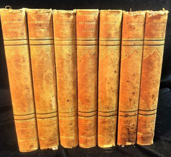 ALEXANDRE DUMAS - CELEBRATED CRIMES: 7 VOLUMES TRANSLATED BY I.G. BURNHAM AND PUBLISHED BY GEORGE BARRIE & SON, PHILADELPHIA - 1895