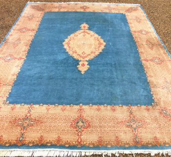 PERSIAN KERMAN HAND KNOTTED RUG - 8.8 x 11.6