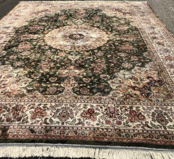 PERSIAN SILK ISFAHAN HAND KNOTTED RUG - 8.0 x 10.11