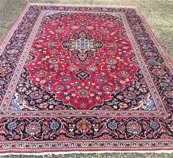 PERSIAN CLASSIC KASHAN HAND KNOTTED RUG – 7.9 x 11.3