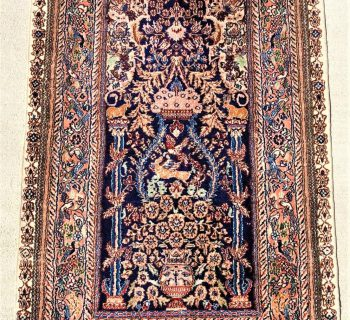 PERSIAN SILK SOUF HAND KNOTTED TREE OF LIFE RUG WITH 400+ KPSI – 2.6 x 4.0