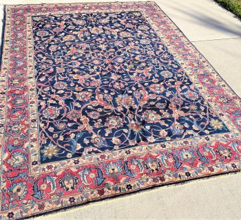 PERSIAN VINTAGE KHORASON HAND KNOTTED RUG – 7.11 x 10.6