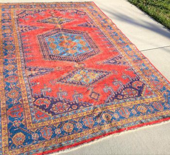 PERSIAN HERIZ HAND KNOTTED RUG – 7.11 x 11.6