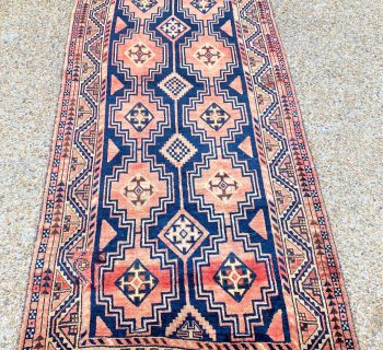ANTIQUE PERSIAN KAZAK HAND KNOTTED RUG – 4.4 x 9.7