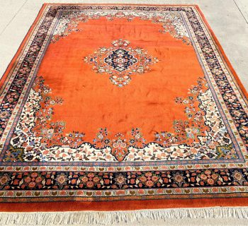 PERSIAN KERMAN HAND KNOTTED RUG – 8.10 x 12.0