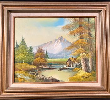 PHILIP CANTRELL (1922-NOW) ORIGINAL OIL ON CANVAS LANDSCAPE FRAMED PAINTING MEASURES 24in x 28in
