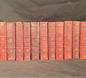 THE WORKS OF CHARLES DICKENS, DAILY NEWS MEMORIAL EDITION – 19 LEATHERBOUND VOLUMES