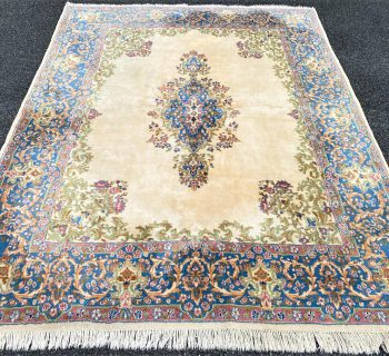 PERSIAN KERMAN HAND KNOTTED RUG WITH 200+ KPSI – 7.11 x 10.3