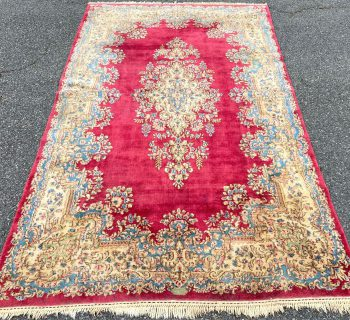 ANTIQUE PERSIAN KERMAN SIGNED HAND KNOTTED RUG WITH 250+ KPSI – 5.9 x 9.7