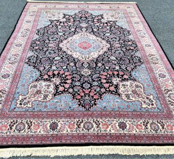 PERSIAN TABRIZ HAND KNOTTED RUG WITH 250+ KPSI – 9.0 x 12.1