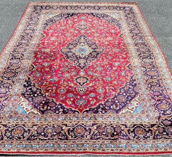 PERSIAN KASHAN HAND KNOTTED RUG – 7.11 x 11.7