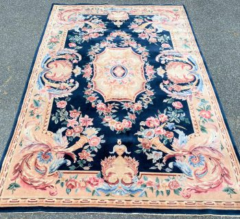 HAND KNOTTED AUBUSSON RUG WITH 200+ KPSI – 5.10 x 8.10