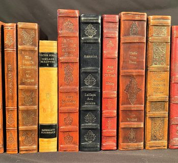 LEATHERBOUND FICTION BOOKS – 10 VOLUMES