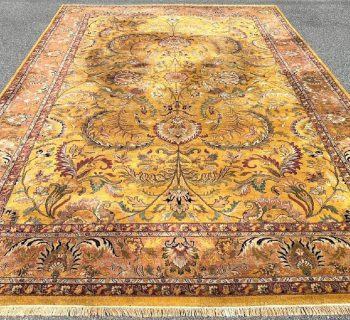 PALACE SIZED TABRIZ HAND KNOTTED RUG WITH A DOUBLE WEFT – 11.8 x 17.10